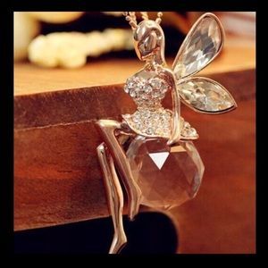 Jewelry - Crystal Fairy Pendant Necklace